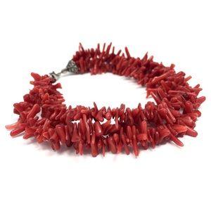Vintage Coral Beaded Bracelet